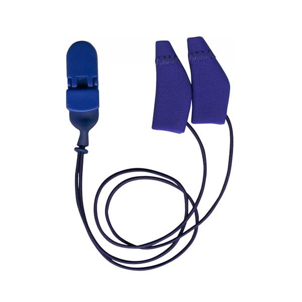 מגיני זיעה כחולים כולל קליפס, גודל BTE -זוג