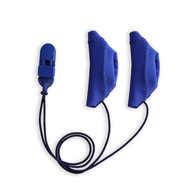 מגיני זיעה כחולים כולל קליפס, עבור מעבד שתל -זוג